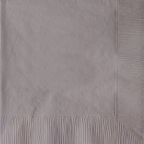 2-Ply Colored Beverage Napkin PRB2LT Silver