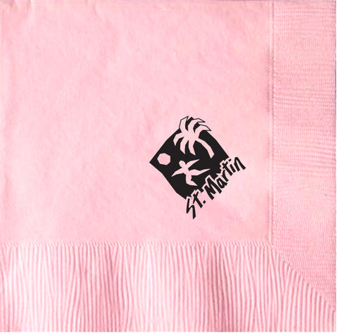 2-Ply Colored Beverage Napkin PRB2LT Pink