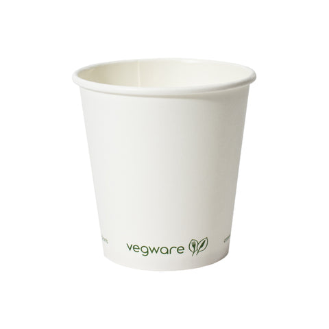 10 oz compostable vegware paper cup