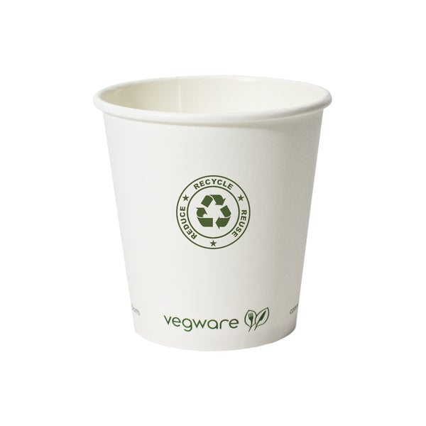 10 oz. Compostable Paper Hot Cup PRCPC10