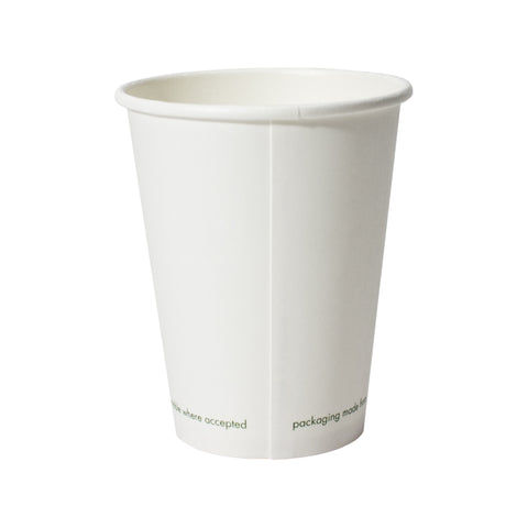 12 oz compostable vegware paper cup