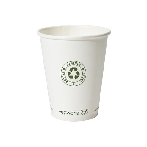 8 oz compostable vegware paper hot cup