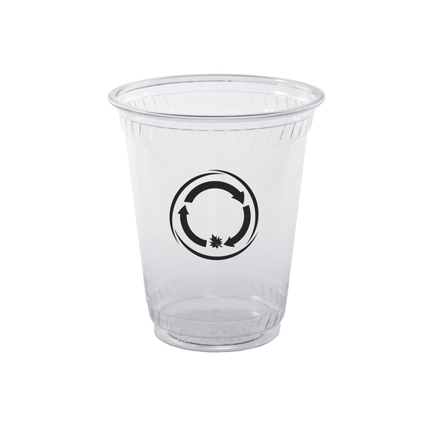 Plastic Cup 10 oz. Clear Soft-Sided Greenware Plastic Cup PRCSC10