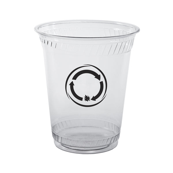 Plastic Cup 12/14 oz. Clear Soft-Sided Greenware Plastic Cup PRCSC12