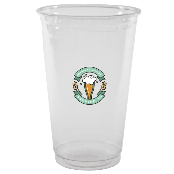 Plastic Cup 20 oz. Clear Soft-Sided Plastic Cup PRCS20