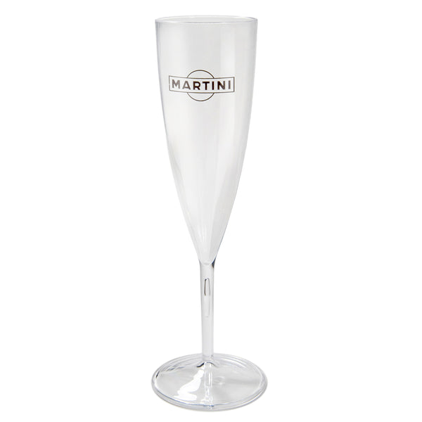 Crystal Clear Plastic Champagne Flute PRCSC6C