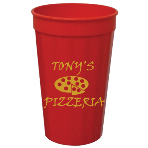 Tall Fluted Colored Stadium/Souvenir Cup 22 oz. PRFST22