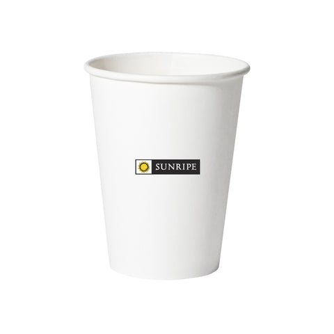 Disposable eco-friendly 12 oz. paper hot cups. Economical, versatile paper hot cups for both hot and cold beverages. The logo or brand of your choice is easily visible.