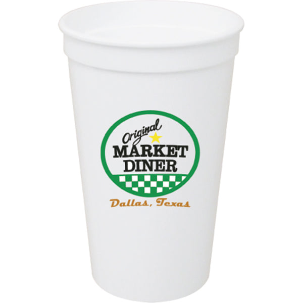 Stadium/Souvenir Cup 32 oz. Smooth White PRST32WH