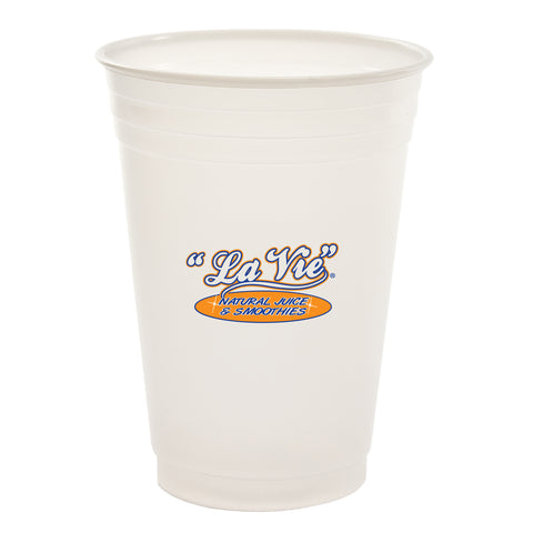 Printed Plastic Cup 10 oz. Soft-Sided Translucent Plastic Cup PRTS10