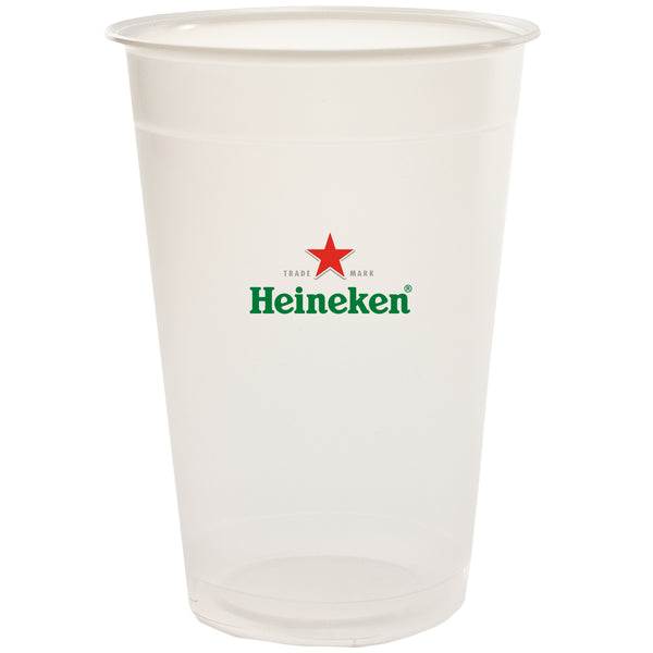 Plastic Cup 24 oz. Translucent Plastic Soft-Sided Cup PRTS24