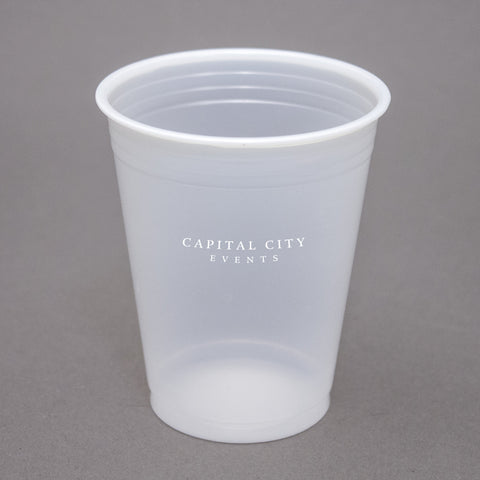 printed Plastic Cup 7 oz. Translucent Plastic Soft-Sided Cup PRTS7