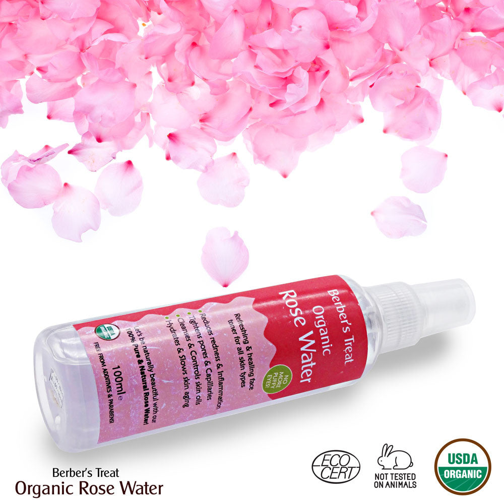 How To Make Rose Water: Rose Water Skin Spray Organic Facial Toner From Morocco