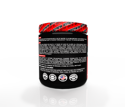 GOOD VALUE - 1 MONTH SUPPLY - BESTFACTOR DETONATOR PRE WORKOUT POWDER ENERGY DRINK FOR MEN & WOMEN BY BEST FACTOR. INCREASE STRENGTH AND GET EXPLOSIVE PERFORMANCE. MAXIMUM PREWORKOUT ENERGY SUPPLEMENT FOR TOP RESULTS. 20 SERVINGS.