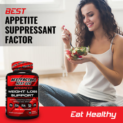 GOOD VALUE - 1 MONTH SUPPLY - BESTFACTOR MAX NEXT GEN WEIGHT LOSS PILLS FOR WOMEN & MEN BY BEST FACTOR (100 VEGGIE CAPS). THERMOGENIC FAT BURNER & APPETITE SUPPRESSANT. FAST METABOLISM DIET PILLS & WEIGHT LOSS SUPPLEMENTS FOR ENERGY AND BUILDING MUSCLE.