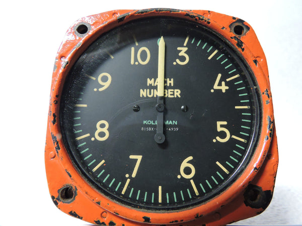 Machmeter, Kollsman 815BX 1968 Grumman Aircraft US Navy