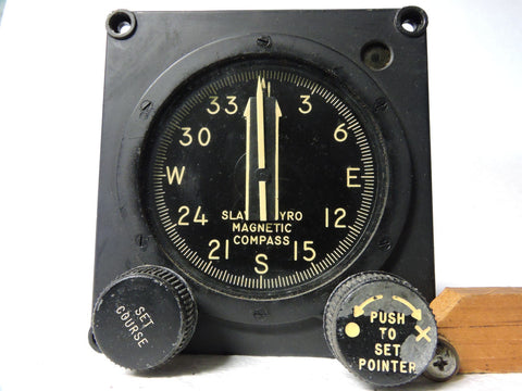 Gyro Magnetic Compass & Course Indicator Slaved Type V-4 Sperry 21204 USAF OCAMA