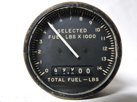 Fuel Quantity Indicator Totalizer, A3 Skywarrior, Liquidometer EA932C-3