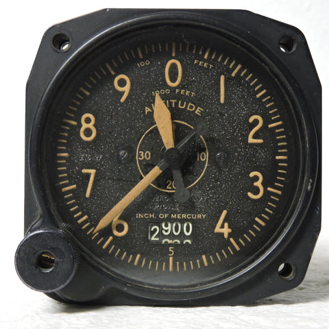 Altimeter, Sensitive, Type C-14A, 35,000 ft, US Navy WWII 1537-2F-B