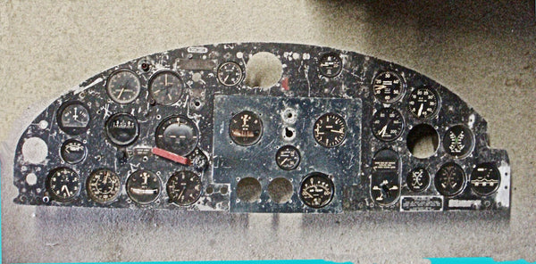 "B-25D Mitchell Bomber Instrument Panel #41-30527, ""Pappy Gunn Strafer"""