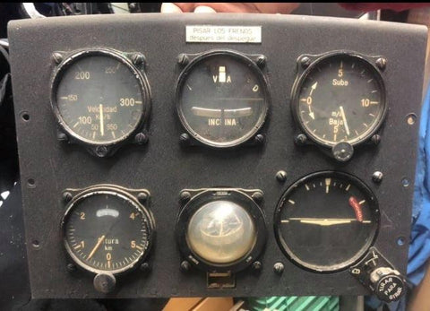 "Hispano Aviation HA-1112 ""Buchón"" Instrument Panel"