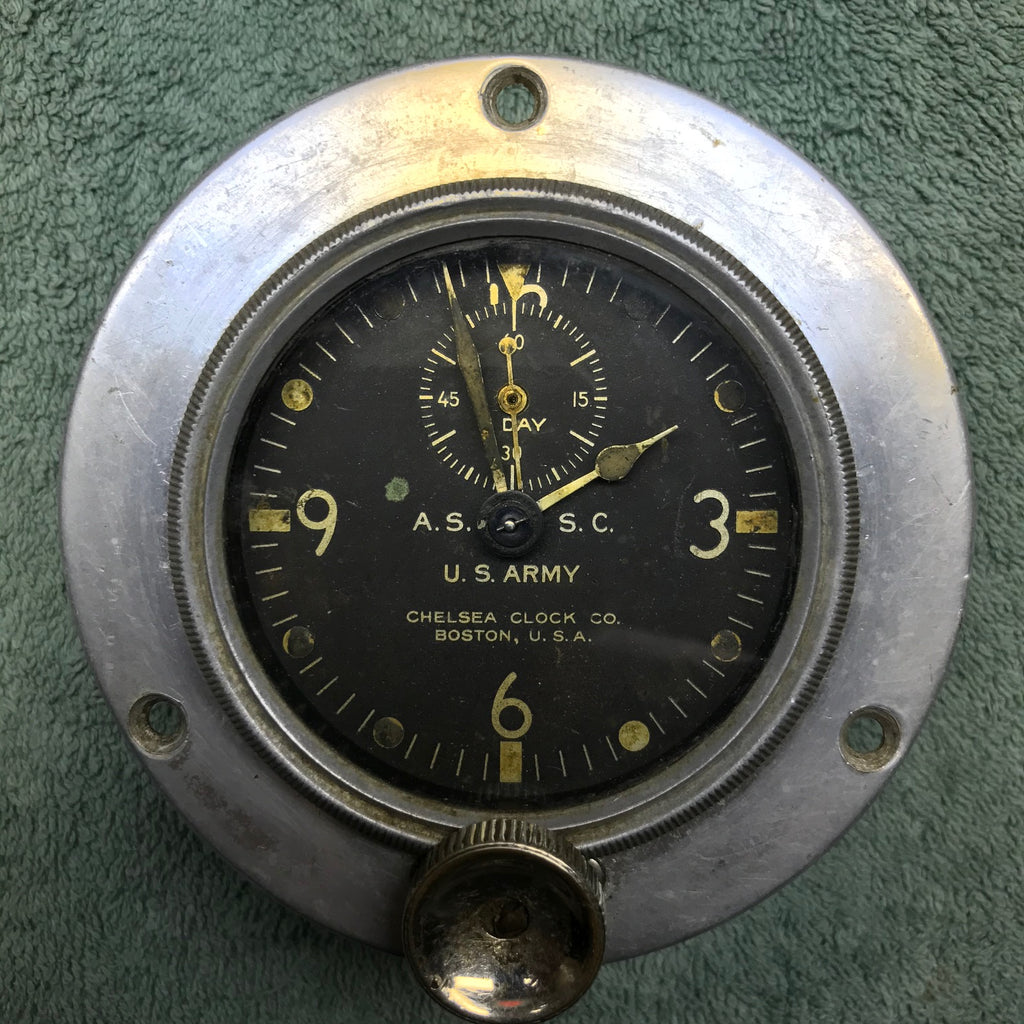 Aircraft Clock, Air Section Signal Corps US Army WWI