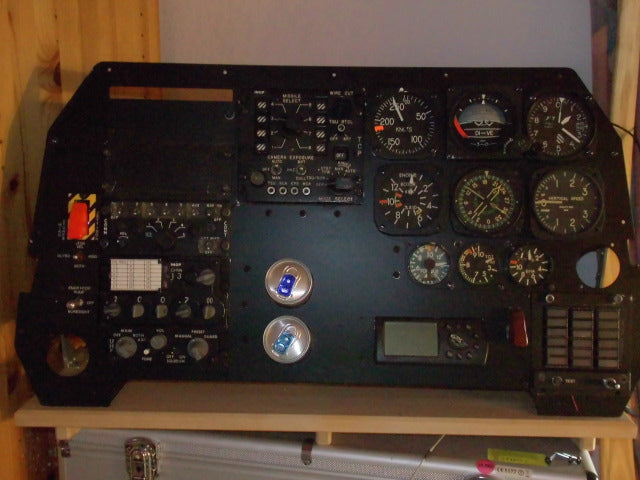AH-1F Cobra Attack Helicopter Gunners Instrument Panel