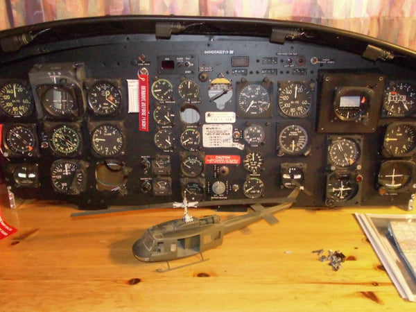 UH-1D Huey Helicopter Instrument Panel