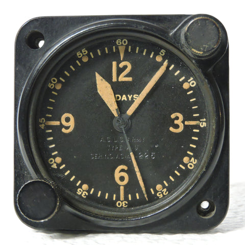 Aircraft Clock, 8-day, Type A-9, Air Corp US Army 1940