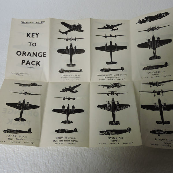 Aircraft Recognition Silhouette Cards, US Naval Aviation Training Division 1942