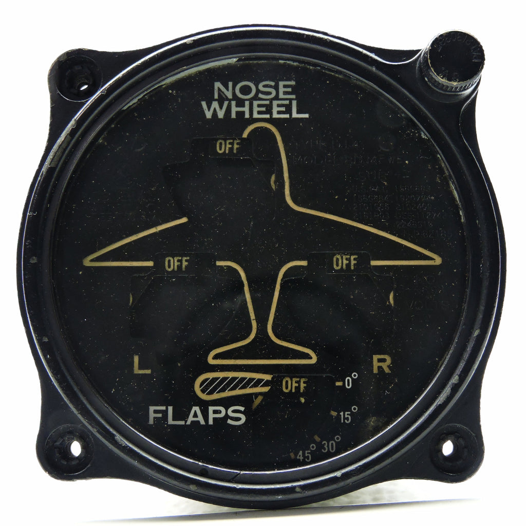 Wheel and Flap Position Indicator, 8DJ4PWE Lighted