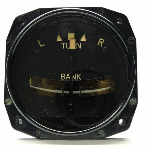 Turn and Bank Indicator, Pneumatic, RCAF Ref No 6AA/77, Type B