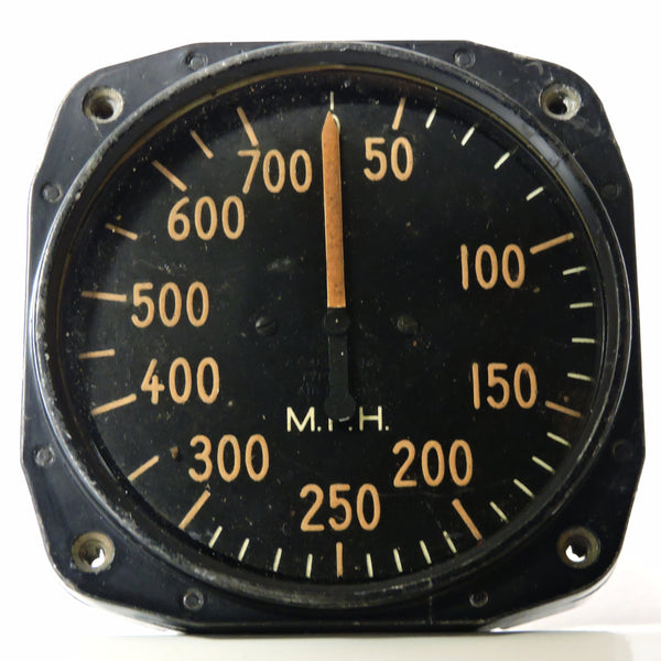 Airspeed Indicator, 700MPH, Army Type F-2, US Army Air Corps, WWII