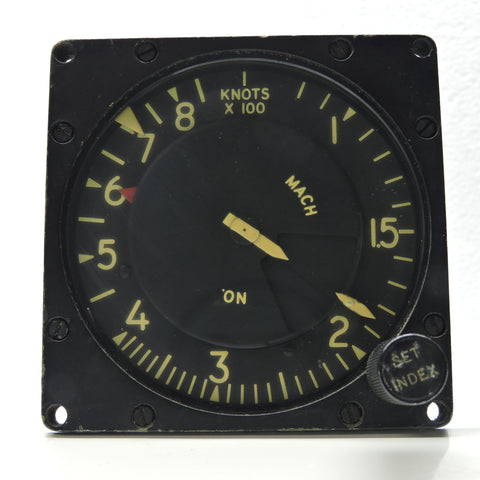 Airspeed / Mach Speed Indicator, US Air Force Type ME-4