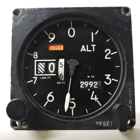 Altimeter, Type AAU 19A/A, Counter-Pointer, F4 Phantom II, F-100 Super Sabre, F-14 Tomcat