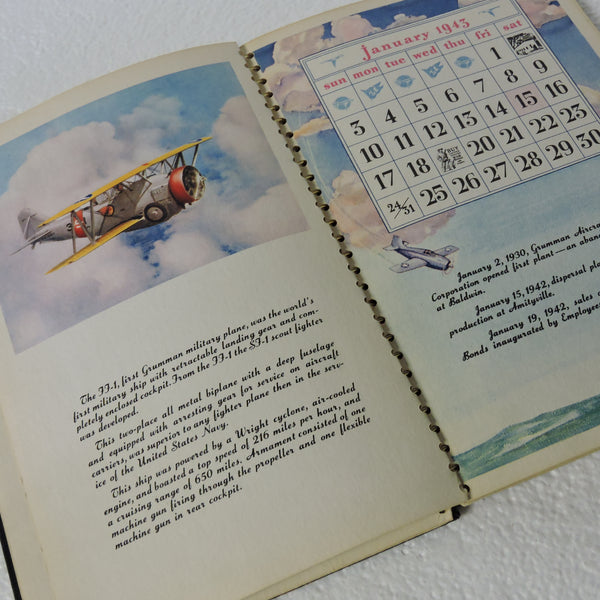 Desk Calendar, 1943 Grumman Aircraft Engineering Corporation