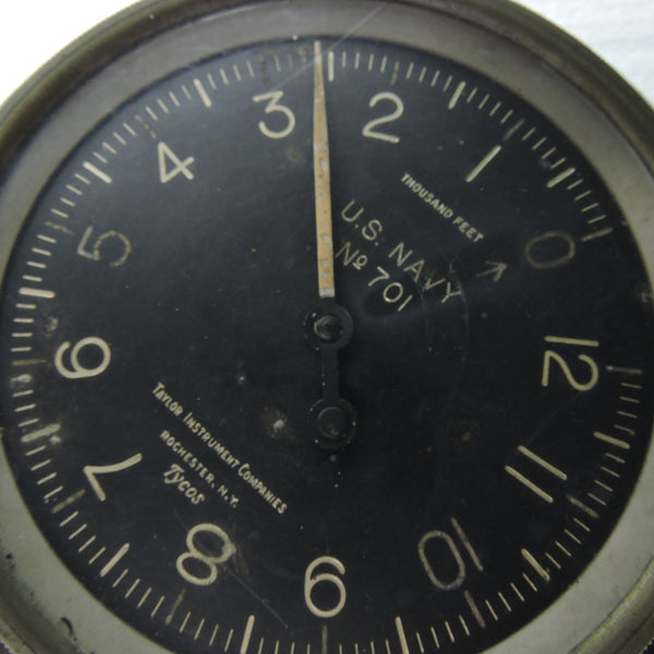 Altimeter, US Navy No 701, Tyco, 12,000FT, WWI-Post WW1 era