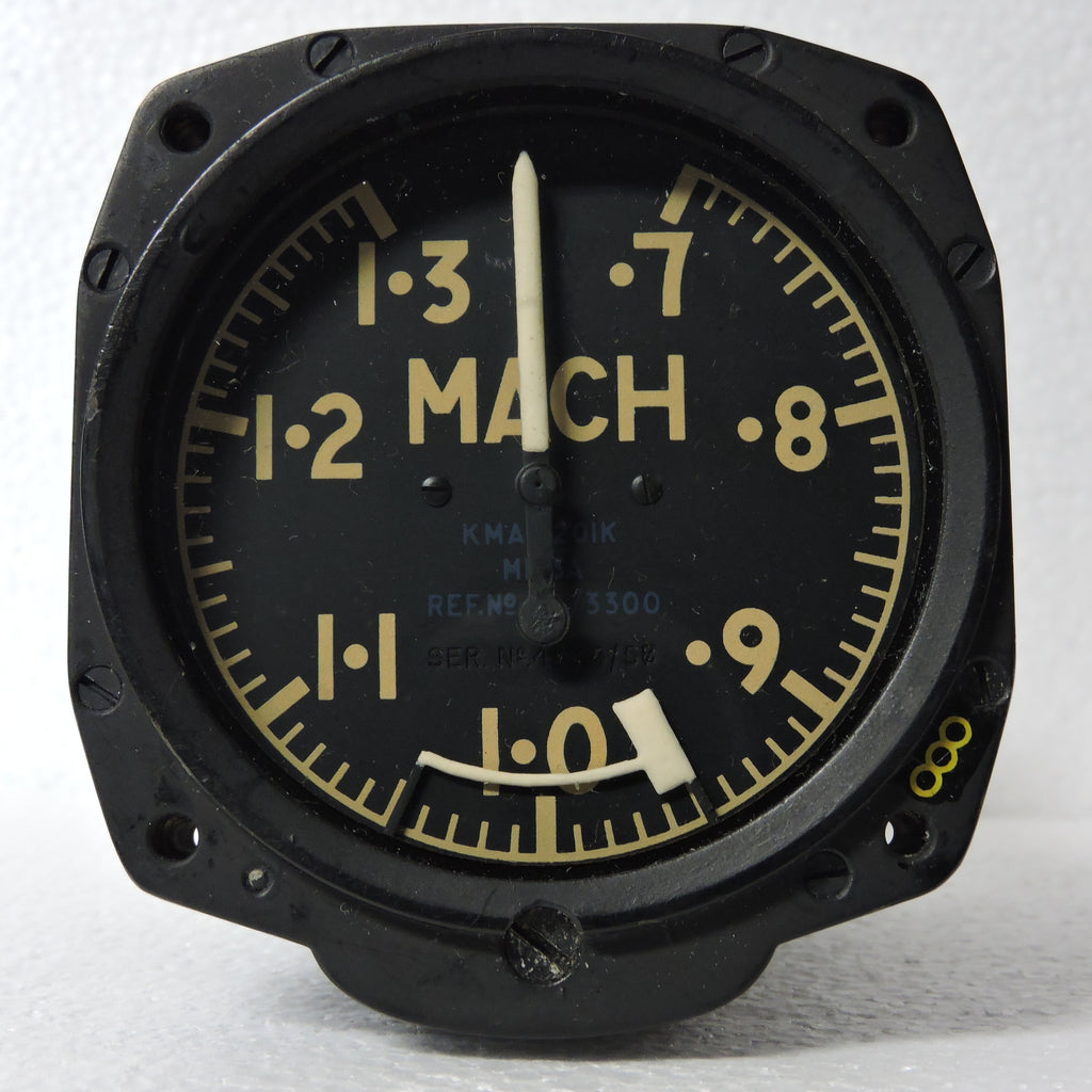 Mach Speed Indicator (Machmeter), Mk 3A, Ref 6A/3300, RAF