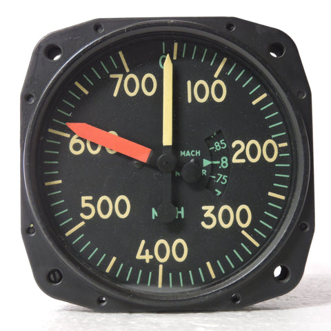 Airspeed Indicator, Maximum Allowable, Type L-5 w/Mach Limiter