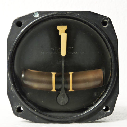 Turn and Bank Indicator Type A-11, AN5820-1 Air Force US Army, WWII, B-17, P-51, P-38