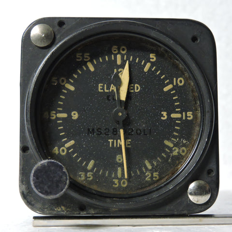 Aircraft Clock, Elapsed Time USAF USN MS28020LI