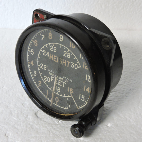 Altimeter, Mk XIIIC, 30,000ft, British Royal Air Force Ref 6A/445