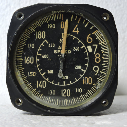Airspeed Indicator, 430 Knots, WWII US Navy F4U Corsair
