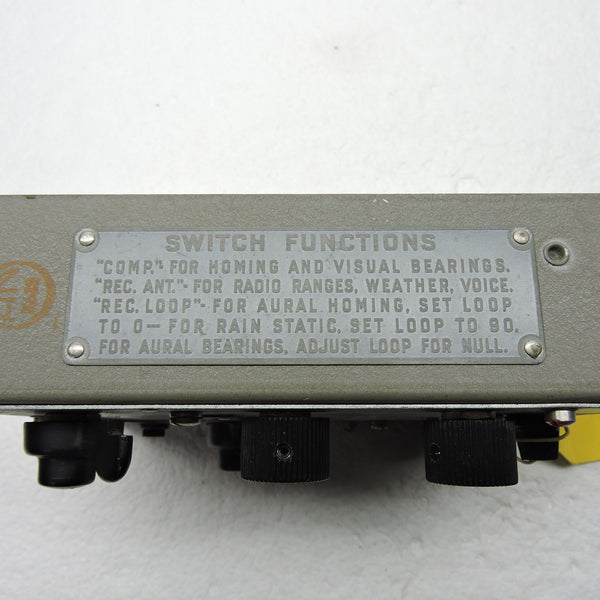 Remote Control Unit Type MN-28LB for AN/ARN-11 Radio Navigation System