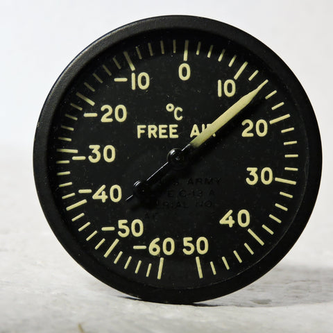 Free Air Temperature Indicator, Direct Reading, Type C-13A WWII