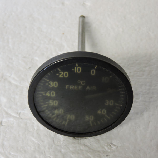 Free Air Temperature Indicator, Direct Reading, Type C-13B WWII (Irreparable)