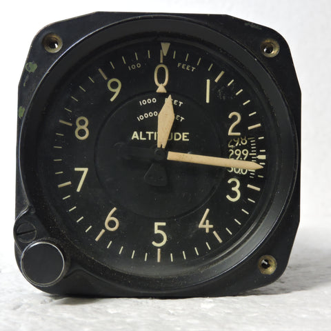 Altimeter, Sensitive, Type C-12, 50,000 ft, US Army Air Force WWII (2)
