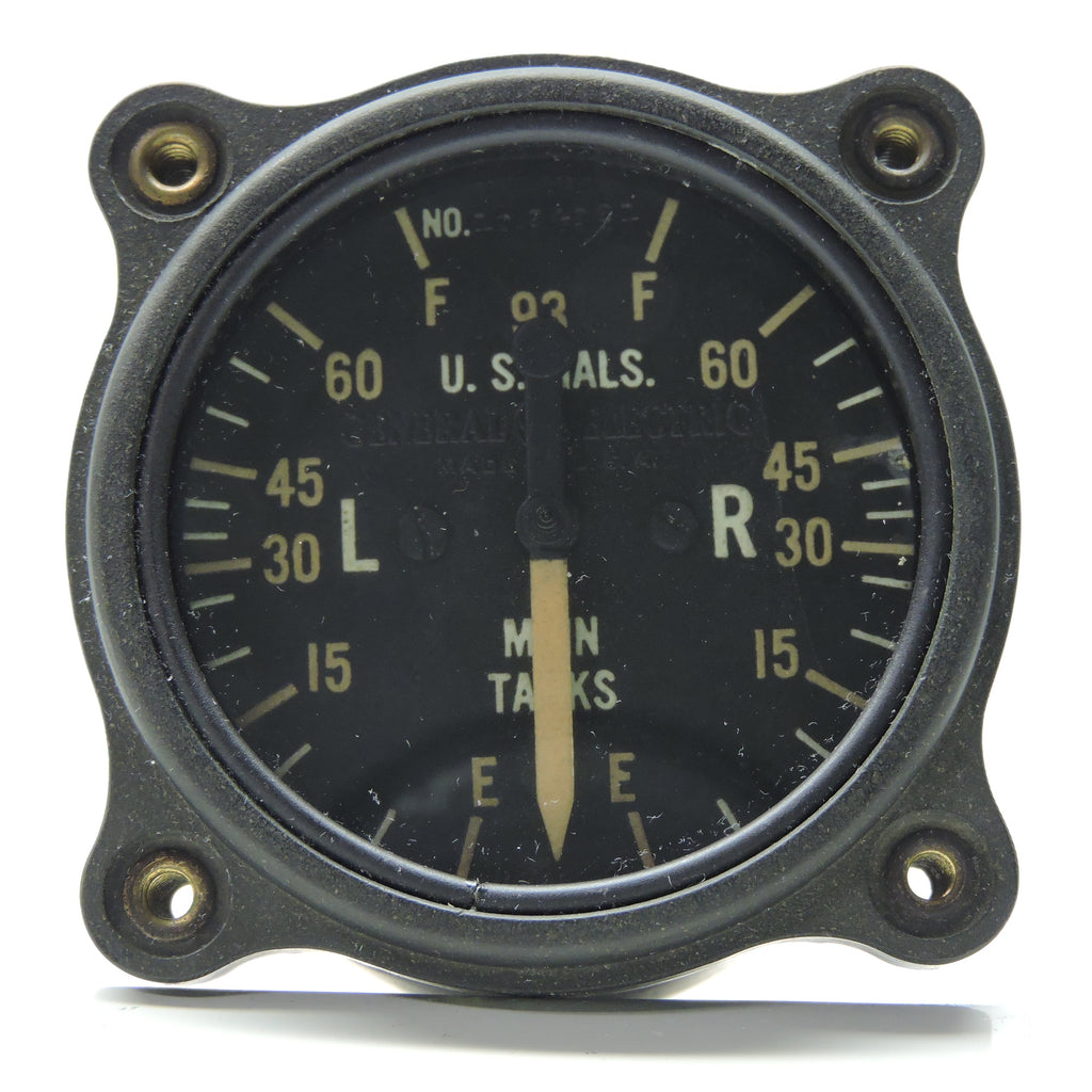 Fuel Quantity Indicator, Main Tanks, P-38 Lightning, GE 8DJ12LAE