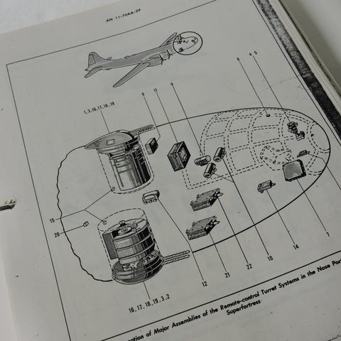 B-29 Superfortress Central Fire Control Parts List AN 11-70AA-29, Photocopy