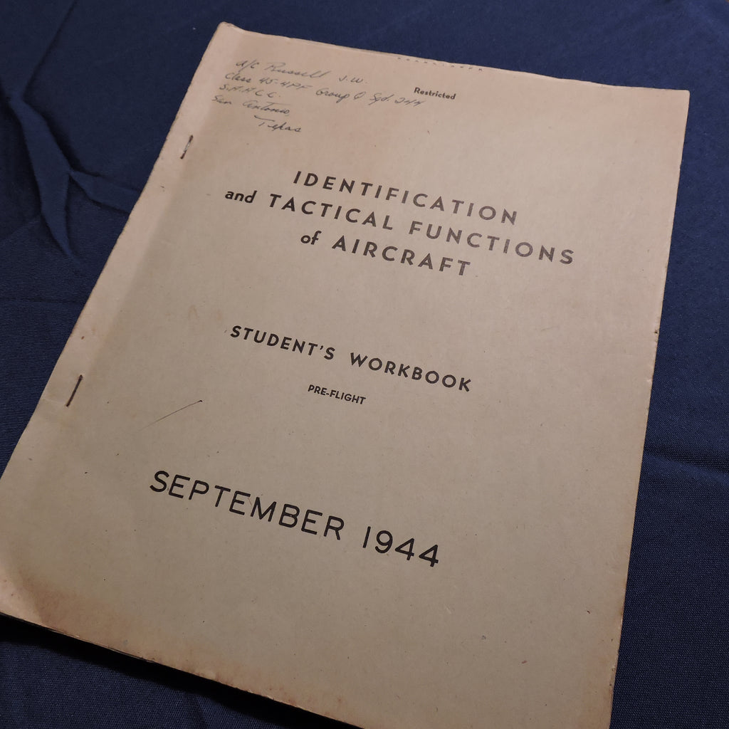 Identification and Tactical Functions of Aircraft, Workbook, Sept 1944